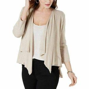 Style & Co Beige Medium 3/4 Sleeve Cardigan 4AA18